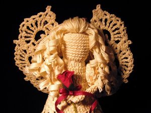 Constance - crochet angel with curly hair