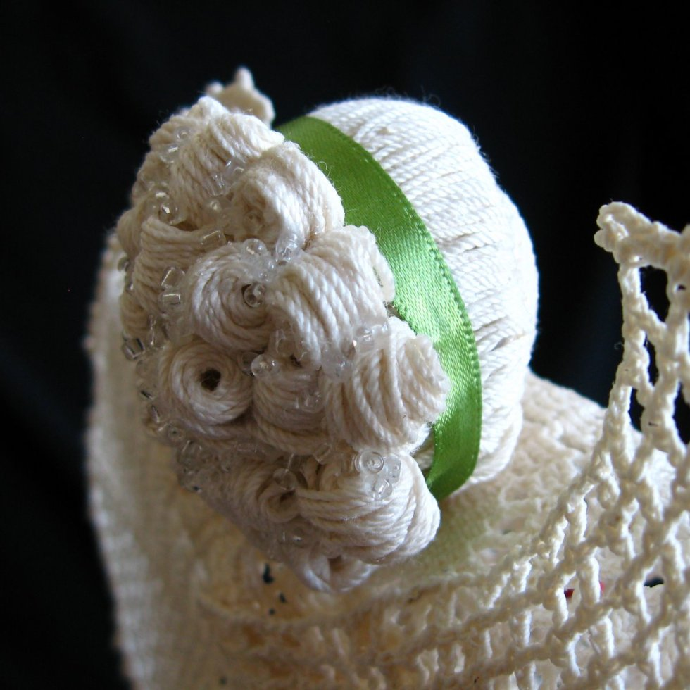 Edith - crochet angel with curls