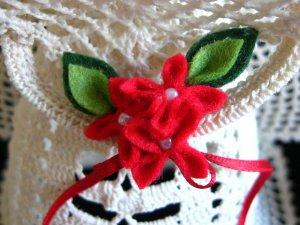 Crochet angel Edith - felt bouquet detail