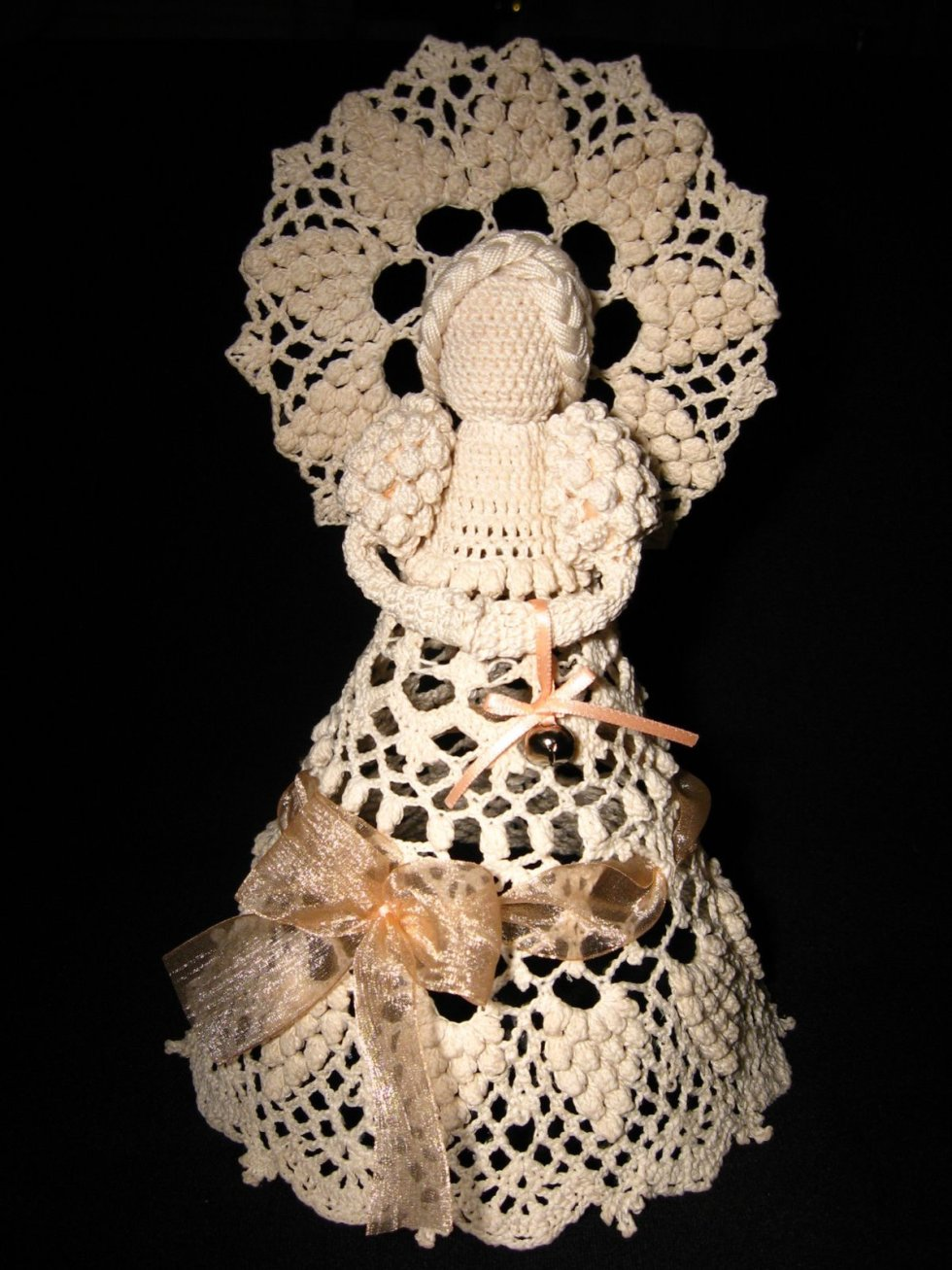 Crochet angel Lillian with jingle bell