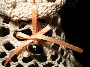 Crochet angel Lillian - jingle bell detail