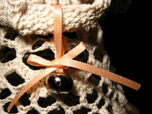 Crochet angel Lillian - jingle bell detail