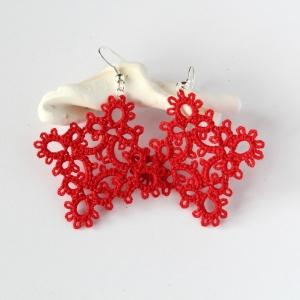 Frivolite hand-made earrings