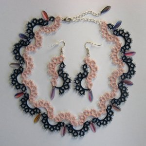 Two colours set - necklace and earrings