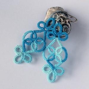 Frivolite handmade earrings, unique design