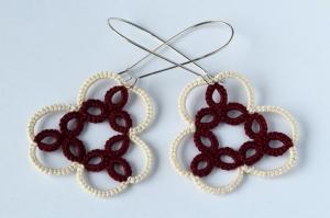 Handmade unique earrings, modern lace