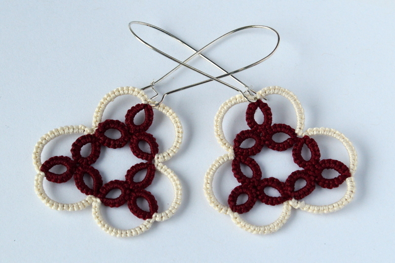 Handmade unique earrings, modern lace