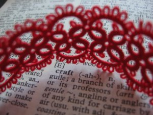 Cotton lace bracelet.
