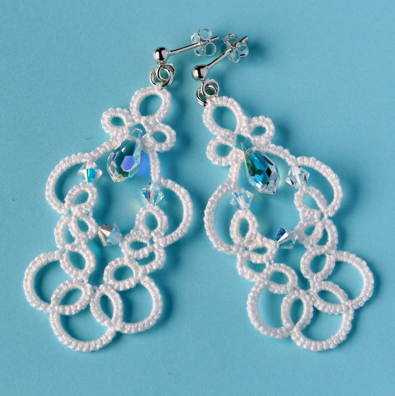 Amelina - delicate lace wedding earrings