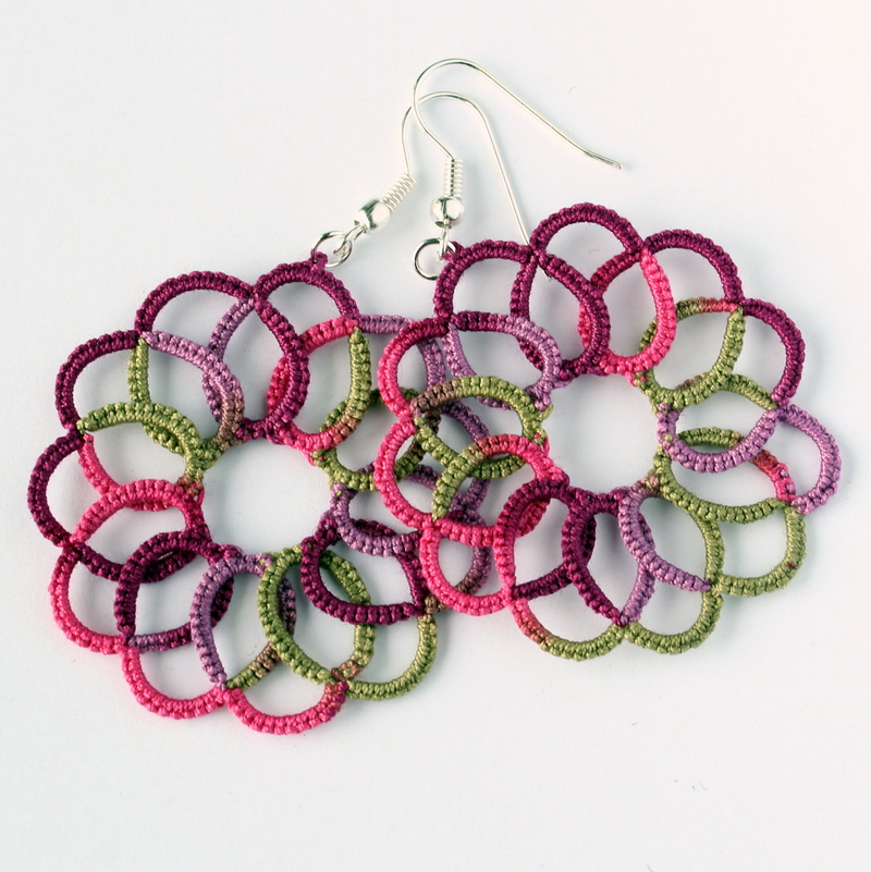 Multicolour swirl handmade earrings