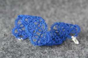 Electric indigo bracelet