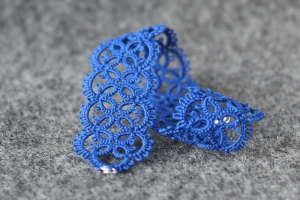 Electric indigo lace bracelet