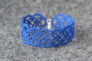 Electric indigo unique bracelet