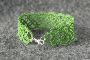 Forest green handmade bracelet