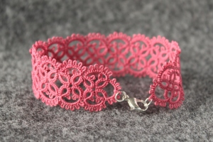 Fuchsia rose unique bracelet