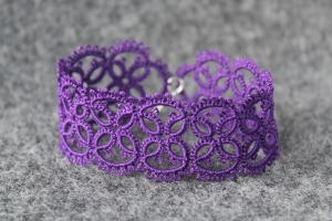 Purple hand-made bracelet