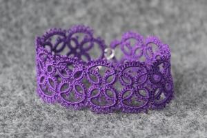 Purple hand-made bracelet