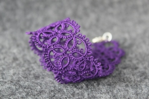 Purple lace hand-made bracelet